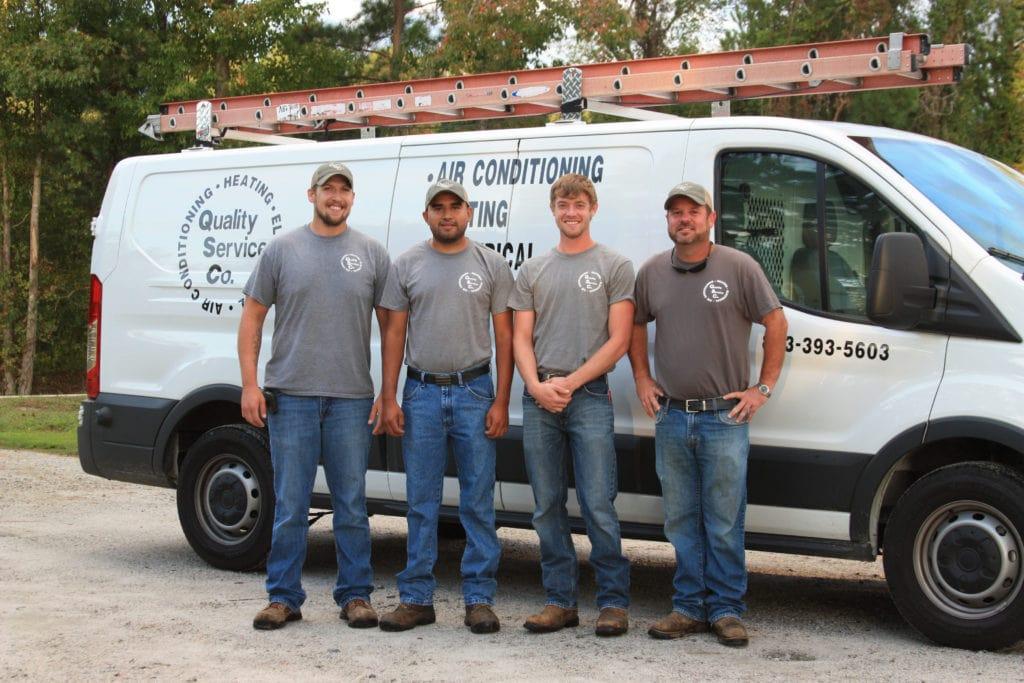 QSC Service Technicians.
