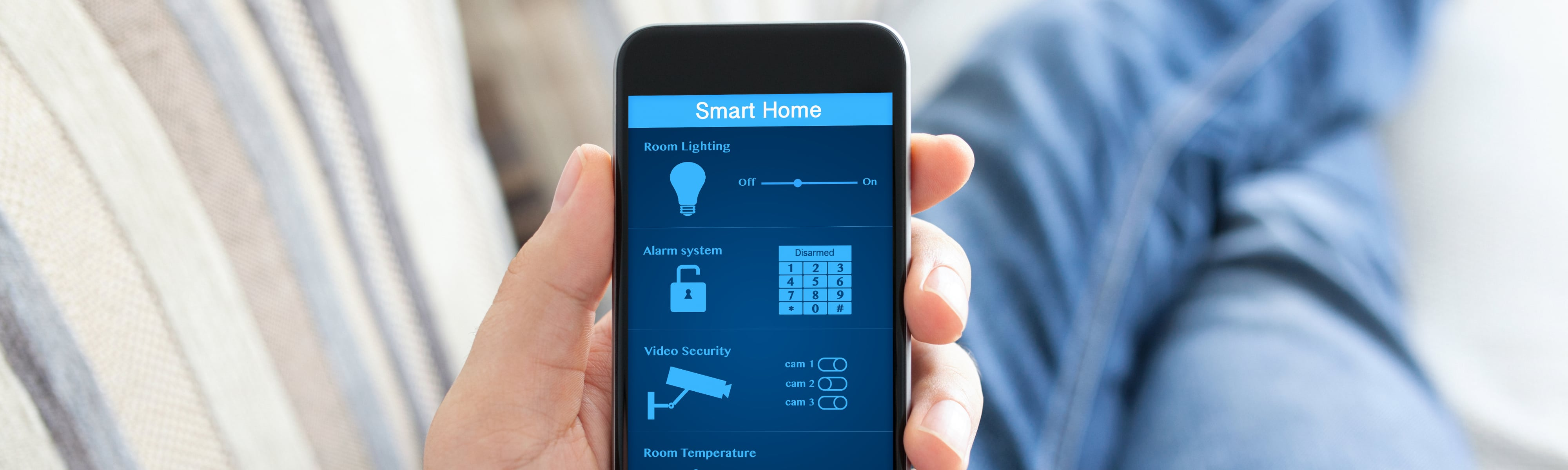Smart home automation on a smartphone.