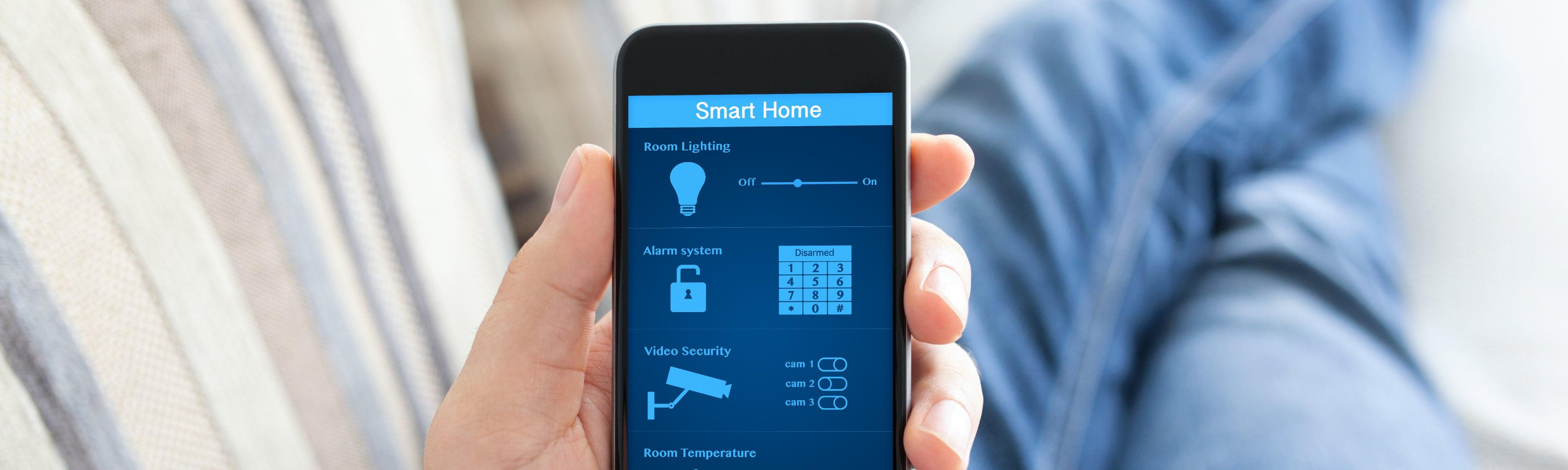 Smart home automation on a smartphone.