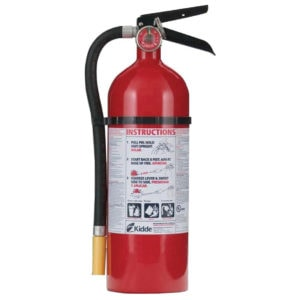 Kidde fire extinguisher.